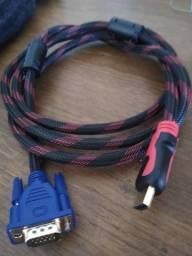 Cabo HDMI e VGA