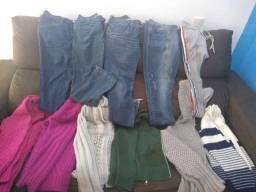 Vendo tudo por 100 reais tamanho M blusa calça 38 até 40