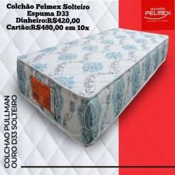 Colchão de Solteiro Pelmex com Espuma D33
