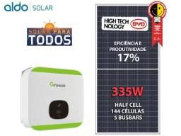 Gerador energia solar - 90 placas