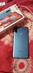 Samsung A11 64 gigas perfeito estado vendo ou troco