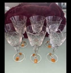 Conjunto com 30 taças de cristal Strauss Originais