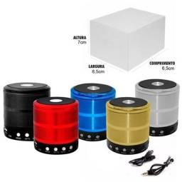 Mini Caixa de Som Portátil Speaker WS-887 - Bluetooth/Aux/Fm/Micro Sd