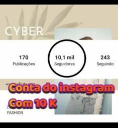 Conta do instagram com 10K