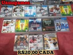 Jogos originais para PlayStation 3 ENTREGO/CARTÃO