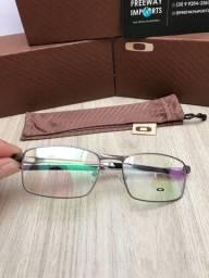 Óculos Oakley Fuller Prata armação de alumínio