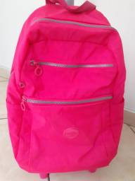 Mochila rosa neon