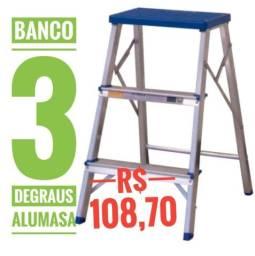 Banco 3 degraus Alumasa em alumínio
