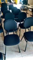 Cadeiras escritório espera secretaria, pc etc.