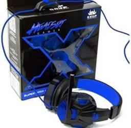 Fone game headset Ps4 p2 com adaptador