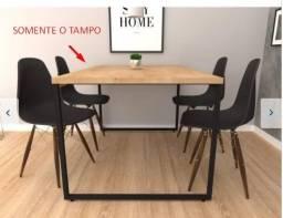 Título do anúncio: Tampo de Mesa de Jantar estilo Industrial 135cm x 90cm x 3cm
