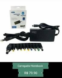 Oferta<br>Carregador Notebook Universal, várias entradas<br>Novos entregamos