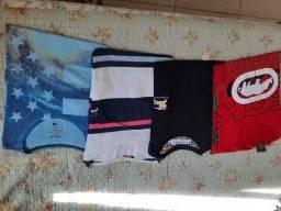 04 camisas malha tam G (Burberry, Ecko e Ponto m )