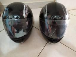 Dois capacetes FLY semi-novos