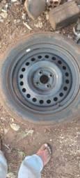 Jogo de roda aro 16 com pneus