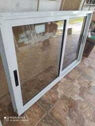 Torro janela de alumínio branco suprema mede1.48x1.18 completa
