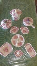 conjunto de peças weiss em louça pintada a mão anos 60