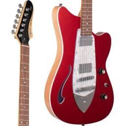 Guitarra Semi Acústica Tagima Jet Blues Cosmos Candy Apple Vermelho - Somos Loja