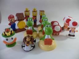 Lote C/14 Coleção Bonecos Mario Bros Nintendo Campinas-sp