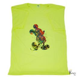 "2 Camisetas ou Baby Look ""Mickey Mouse"""