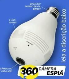 Câmera espiã 360 - lâmpada de led