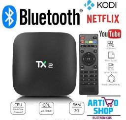 Tv Box Tx2 Smart Bluetooth 4K 2Gb Ram e 16Gb Rom Netflix Youtube