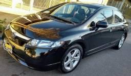 Honda New Civic LXS Flex 2007 Completo (Automático e Couro) - 2007