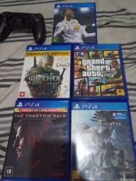 Controle e jogos PS4 (Leia descrição)