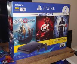 Ps4 Slim 1TB + God 4 + Gt Sport + Uncharted 4 / Troco / Parcelo