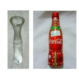 Coleção garrafa e abridor coca cola