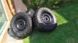 4 Pneus Mud 255/70/16