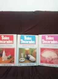 Livros de receita- bolos decorados (coleção)