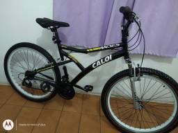 Bicicleta aro 26 Caloi Andes 21 Marchas Vmax cubo roletado perfeita