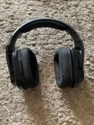 Headset Gamer Logitech Sem fio Preto / azul .