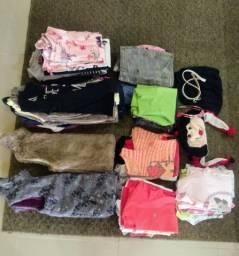 Lote de roupas menina infantil juvenil