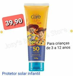 Protetor solar infantil  toy story e minions