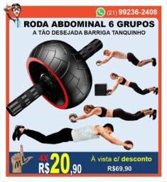 Roda Rolinho De Exercícios Treino Abdominal Aparelho Fitness Barriga Tanquinho