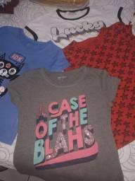 Kit 4 camisas de malhas