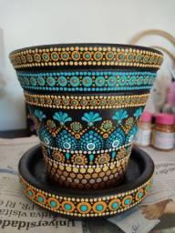 Vaso de cerâmica Turquesa