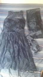 Vestido de festa (Azul Marinho)