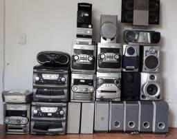Saldo de equipamentos e caixas de som