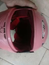 Capacete infantil rosa