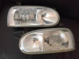 Par de faróis VW Golf MK3 Foco Duplo