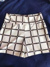 2 short tecido tamanho G por 30,00