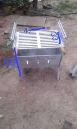 Churrasqueira de alumínio fundido pronta entrega
