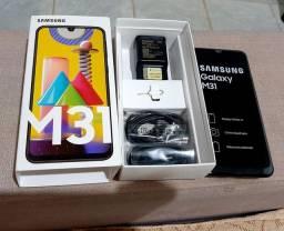 Samsung M31 128gb nunca usado na garantia
