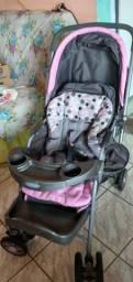 Carrinho de Bebê Travel System Reverse Rosa - Cosco<br><br><br>
