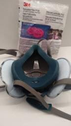 Kit Respirador Máscara Semi facial 3M + 4 unidades de Filtros