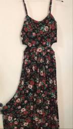 Vestido longo e florido