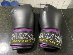 Luva De Boxe/muay Thai Profissional Roxa Falcon Sport